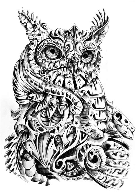 great horned owl tattoo great horned owl