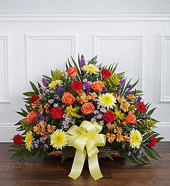 send sympathy funeral flowers in wellington fl blossom funeral tribute basket flowers from the