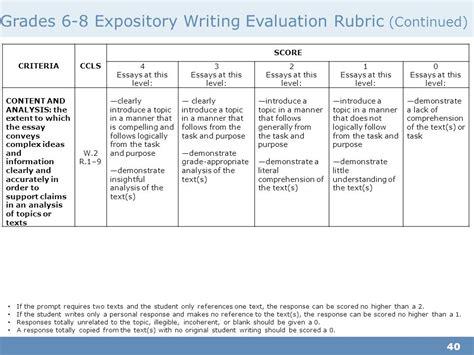 Essay Rubric Grade 8 by Grade 6 Essay Rubric