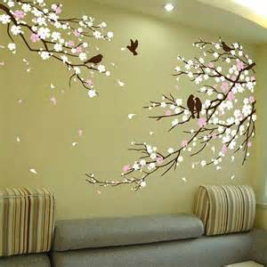 cherry blossom with birds wall decal tree decor for sale and paintings asian art stickers japanese