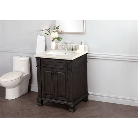 28 bathroom vanity with sink abel 28 inch distressed single sink bathroom vanity marble top