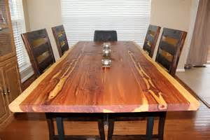 Cedar Dining Room Table Eastern Red Cedar Dining Room Table Kenyon S Creations Llc