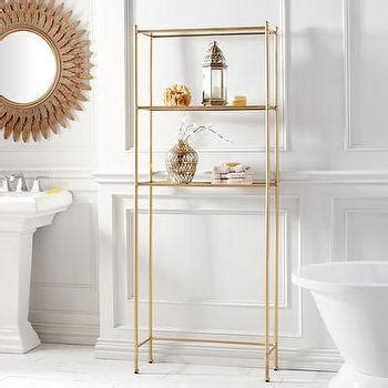 gold bathroom shelf five tier polished nickel bath shelf