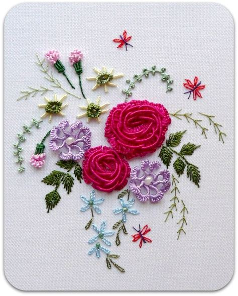 embroidery design rose flower rosaliewakefield millefiori my quot american beauty rose quot in