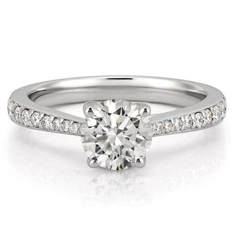 tapered engagement ring delicate tapered engagement ring