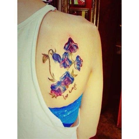 bluebell tattoo designs bluebells flower watercolor on back of shoulder
