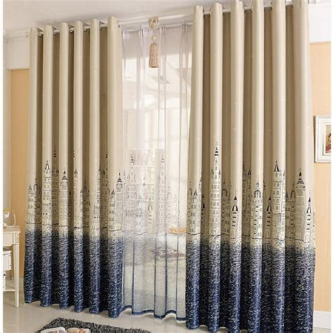 curtain shop com kids bedroom ready made cartoon curtain castle sea