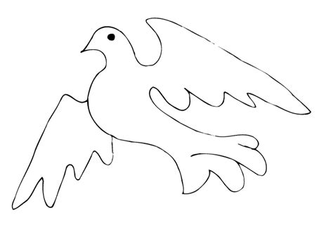 free coloring pages of flying dove