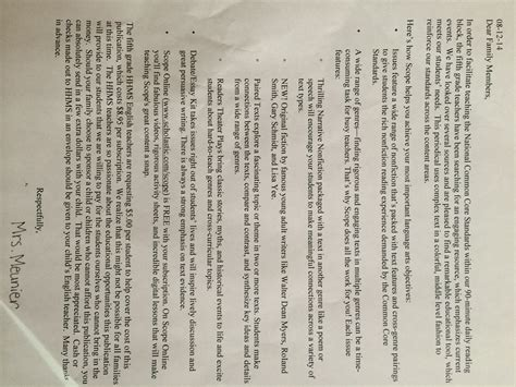 Parent Letter Common Math Indiana Teachers Admit Following Common Hoosiers