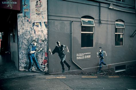 street art become a cop in street art the inspiration room