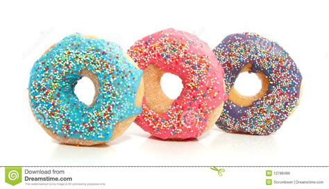 colorful pictures three colorful donuts royalty free stock image image