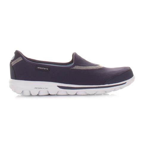 Go Walk Skechers by Womens Skechers Go Walk Navy Comfort Walking Trainers