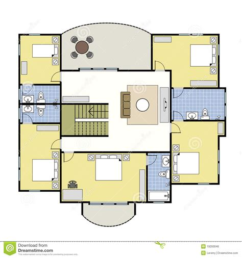 Floorplan Architecture Plan House Royalty Free Stock Image