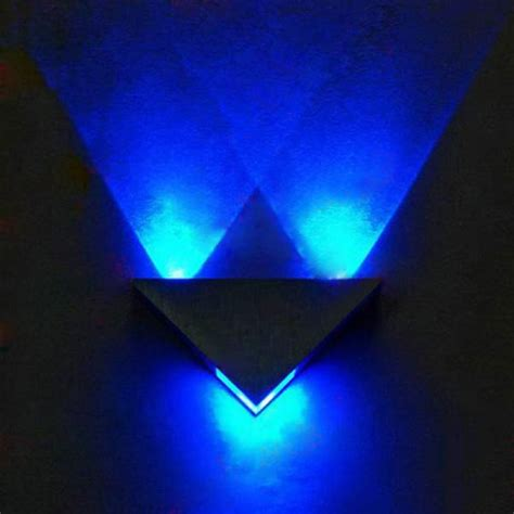 buy modern high power  led triangle decoration wall