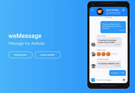 android imessage wemessage brings imessages to android requires a mac to work