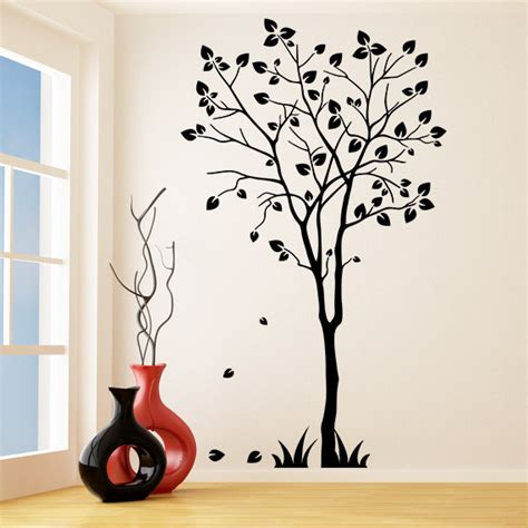 tree silhouette wall stickers vinyl wall decal tree silhouette nature decor sticker
