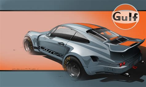 gulf porsche 911 motorsport artworks anthony colard pelican parts