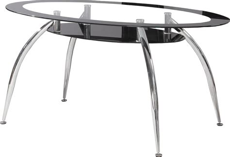 soho modern furniture soho modern oval dining table with black edged glass