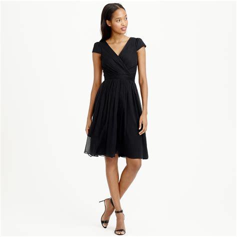 Dress Mirabelle j crew mirabelle dress in silk chiffon in black lyst