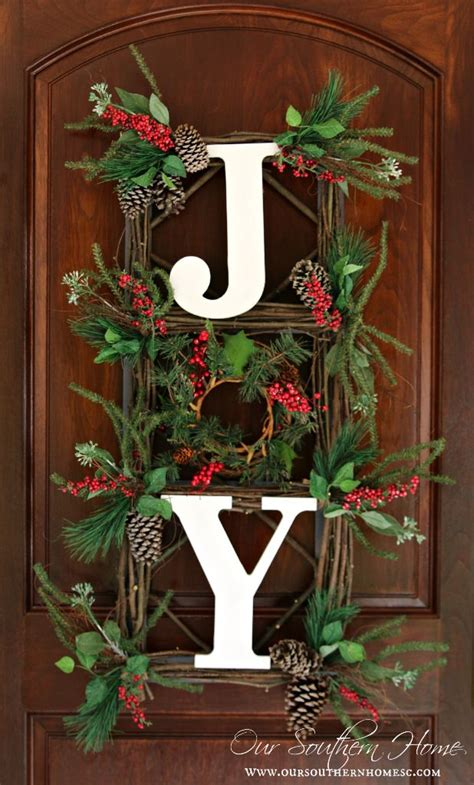 christmas decorations made at home orvis inspired joy wall hanging our southern home