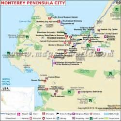 california peninsula map monterey peninsula city map travel pch