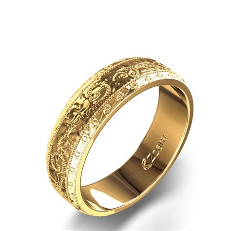 gold wedding rings gold wedding bands engraved