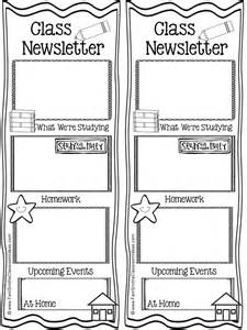 Classroom Weekly Newsletter Template by Classroom Freebies Fern Smith S Free Parent Communication