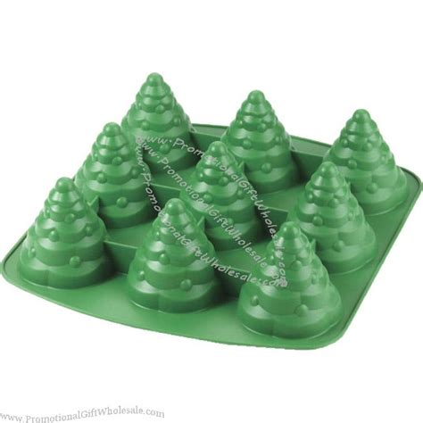 3d silicone christmas tree cake cupcake shaped pan mold