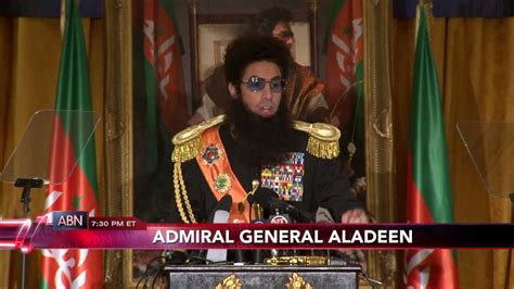 admiral general aladeen admiral general aladeen press conference news wrap youtube