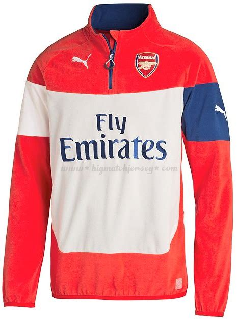 arsenal zipper half zipper sweater training arsenal merah 2014 2015