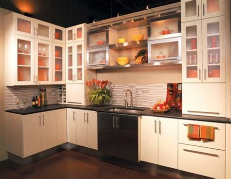 kitchen wall cabinets with glass doors 20 beautiful kitchen cabinet designs with glass