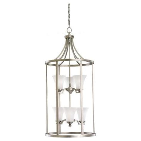 sea gull lighting somerton 6 light antique brushed nickel