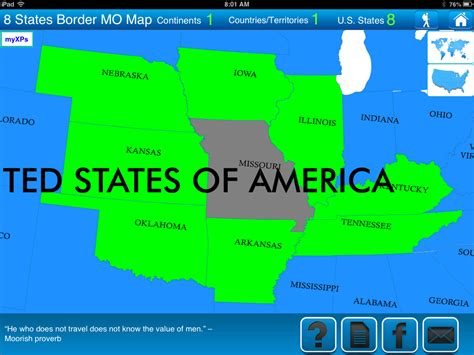 missouri map and surrounding states travel goal getter s travel tips of the week