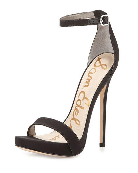 sam edelman black sandals sam edelman eleanor heeled sandals in black lyst