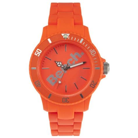 bench watches for women bench women s plastic bracelet strap watch orange