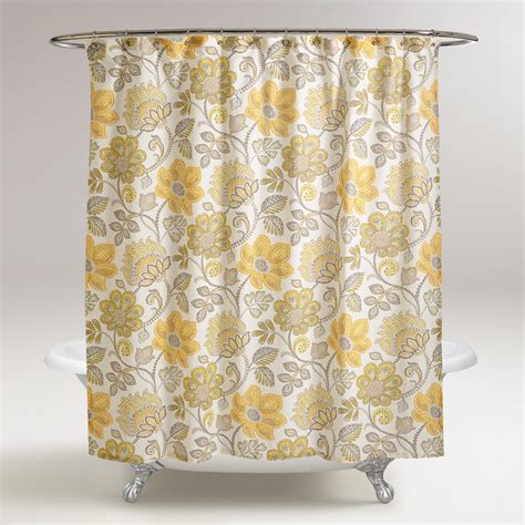 curtains world market floral pari shower curtain world market