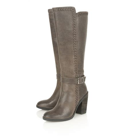 buy ravel vancouver knee high boots in grey