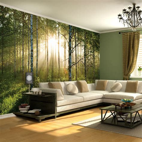 Wall Murals Forest Scene Forest Scene 1 Wall Murals Touch Of Modern
