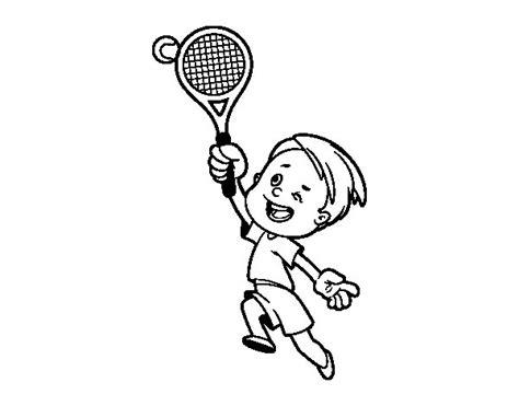 Imagenes De Niños Jugando Tenis Para Colorear | dibujo de ni 241 o jugando a tenis para colorear dibujos net