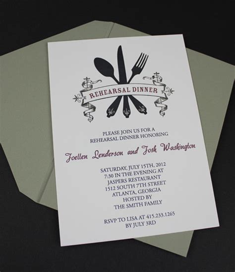 rehearsal dinner invitation template free invitation template casual rehearsal dinner