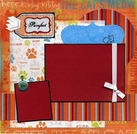 Frugal Scrapbooking 2 6 by Premade Cat Scrapbook Page The Cats Meow Scrapbook
