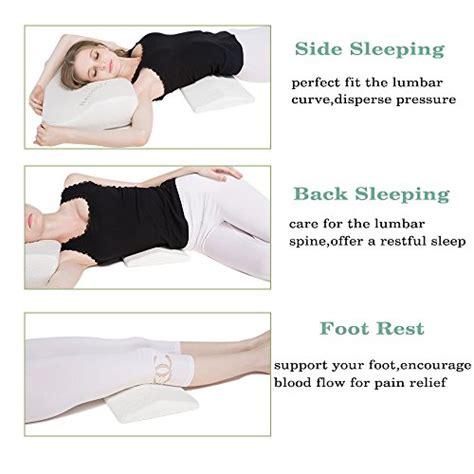 lower back pillow for bed soft memory foam sleeping pillow for lower back pain