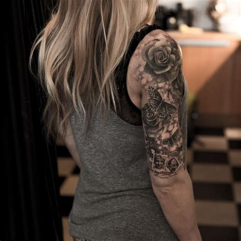 quarter sleeve arm tattoo quarter sleeve tattoo ideas for men and women