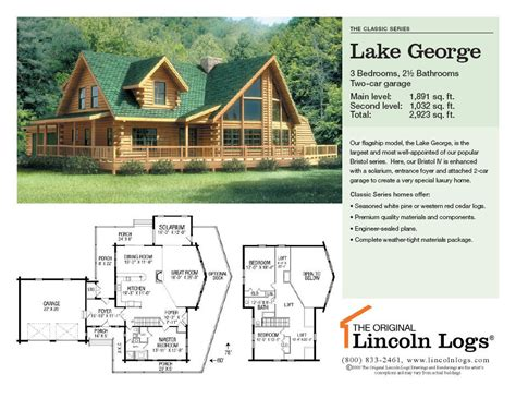lincoln log homes floor plans log home floorplan lake george the original lincoln logs