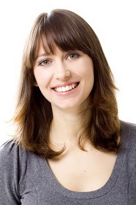 shoulder length haircuts with bangs medium length layered hairstyles with bangs