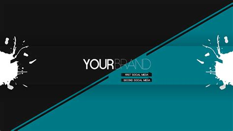 layout para banner youtube minimalist youtube banner on behance