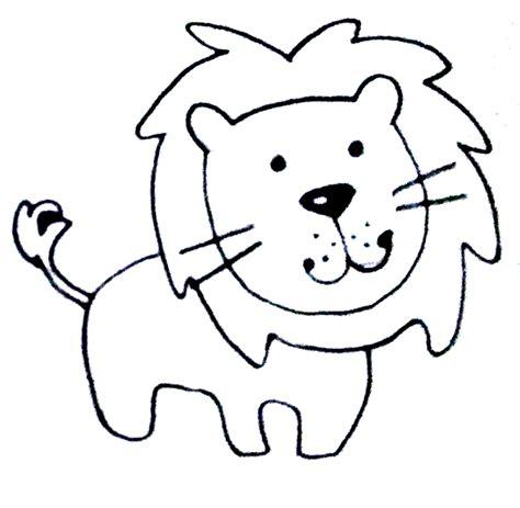 imagenes de leones fasiles dibujos a l 225 piz f 225 ciles motivos infantiles sencillos