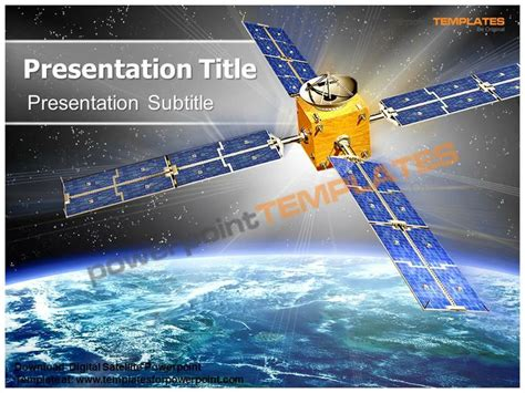 satellite powerpoint template 62 best 3d animated power
