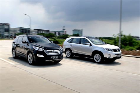 Compare Hyundai Santa Fe And Kia Sorento 2014 Santa Fe Vs Sorento Autos Post
