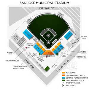 San Jose Zoning Map by San Jose Municipal Stadium Seating Chart Vivid Seats
